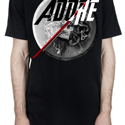 "ADORE – BLACK ""SKULLDUSSA"" 2FACE PRINT LIMITED EDITION T-SHIRT"